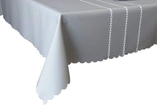 MOCHENG Nappe de Cuisine rectangulaire Motif Rayures, Gris, 120X170cm