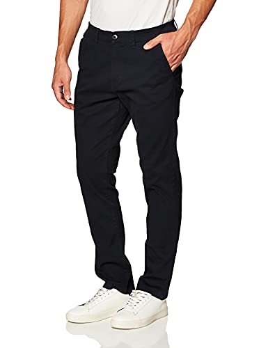 Southpole Men's Flex Stretch Basic Long Chino Pants, New Navy (New), 30X32
