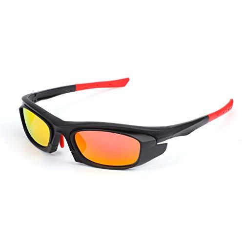 QKURT Ciclismo Gafas, Gafas de bicicleta a prueba de UV Gafas de Bicicleta TR Marco de plastic Para Ciclismo Triatlón Esquí