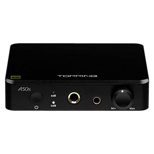 Topping A50s - Amplificador para auriculares equilibrado/preamplificador (negro)