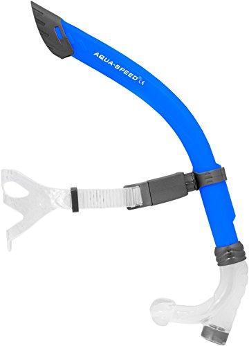 Aqua Speed® Comet JR. Frontschnorchel für Kinder/Jugendliche (Schwimmschnorchel Schwimmtraining Silikon Spritzschutz), Farbe:Blue