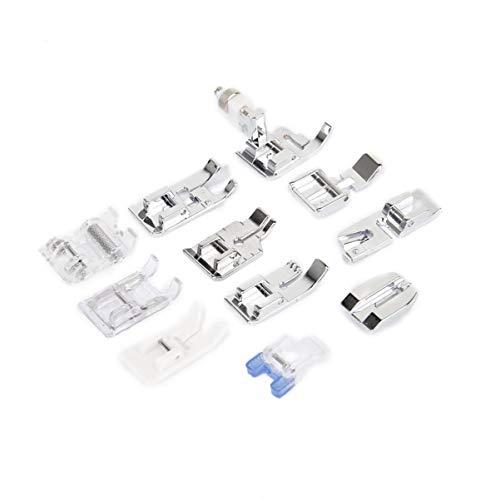 kit de pie de máquina de coser juego de prensatelas de 11 piezas juego de prensatelas de cosido de vástago universal bajo para accesorios de suministros de costura