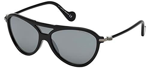MONCLER ML0054 01C 00 Gafas de sol, Negro (Nero Lucido/Fumo Specchiato), 0 Unisex Adulto