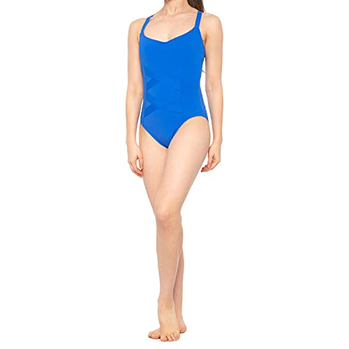 La Blanca Women's Mio One Piece Swimsuit, China Blue//Rated Recycled, 8