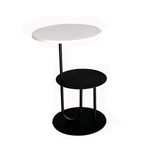 ZXNRTU Diseño Simple Café Stand Tabla movible en el salón for Comer, Trabajar Home Office Furniture 2-Tier Fin Mesa Redonda Mesa Lateral Mesa Decorativa de café