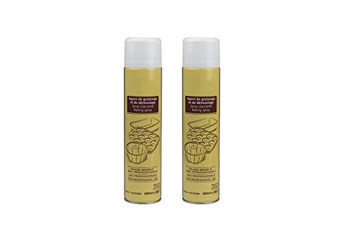 Aperisnack® - AP12.001.02 - Kit 2pz. Staccante Spray Alimentare 600ml Cresco Uso Professionale per oleare, imburrare stampi e teglie 600ml
