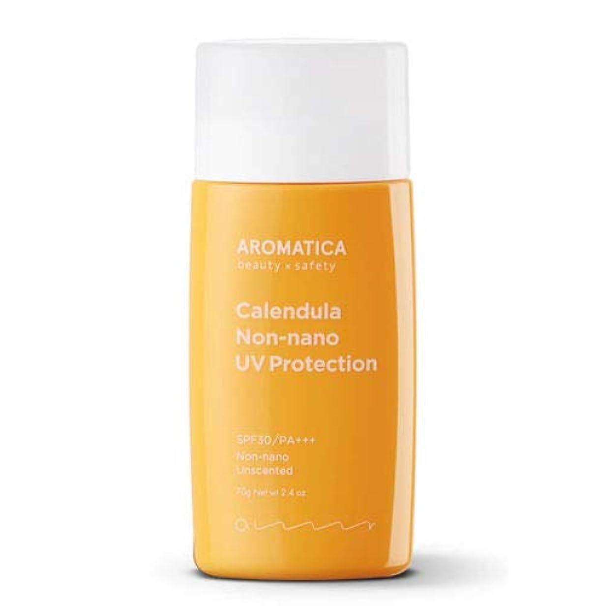 日の出軌道感情のAROMATICA アロマティカ Calendula NON-NANO UV Protection Unscented サンクリーム 70g SPF30/PA+++ 米国 日焼け止め