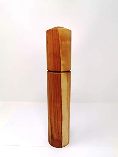 Woodenarts Pfeffermühle – Salzmühle - Gewürzmühle aus altem Apfelholz mit einem hochwertigen Keramikmahlwerk – Länge ca. 28 cm – Breite ca. 5 cm