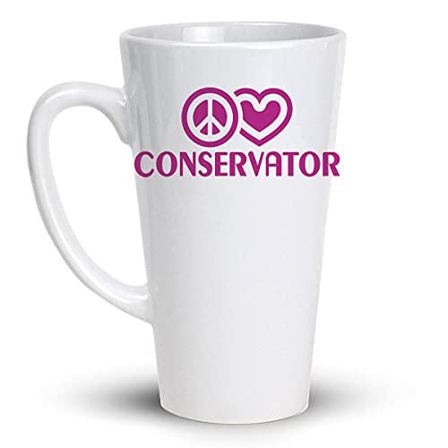 Press Fans - PEACE LOVE CONSERVATOR 17 Oz Large Latte Coffee Mug, y55