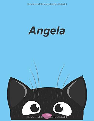 Personalisiertes Notizbuch: Angela - über 100 Seiten, liniert im A4+ Format