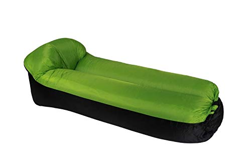 XKMY Colchoneta de camping al aire libre inflable automática sofá portátil cama de aire para acampar, picnic, playa, piscina, cama de aire impermeable (color verde)