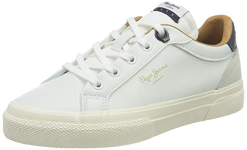 Pepe Jeans London Kenton Classic Boy Sneaker, 800WHITE, 39 EU