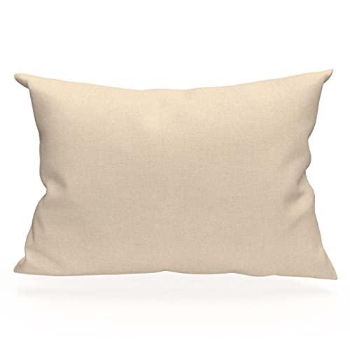 Soleil d'Ocre 554828 - Funda de almohada algodón de 57 hilos, color crudo 50 x 75 cm