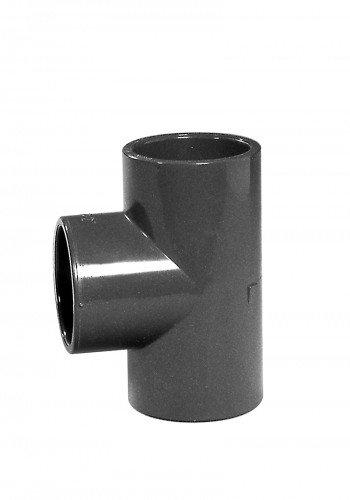 PVC-T-Stück 90°, Klebemuffe, 50 mm