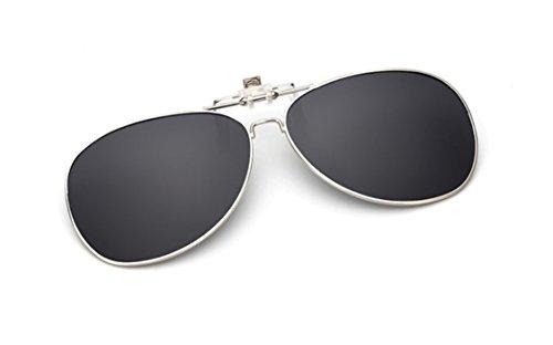 UK1stChoice-Zone Hombre Mujer Unisex Flip-up Clip en Polarizado Las Gafas de Sol CLIPON0001 (Negro)