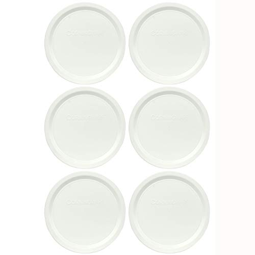 Corningware F-16-PC French White 16 Ounce Plastic Replacement Lid - 6 Pack