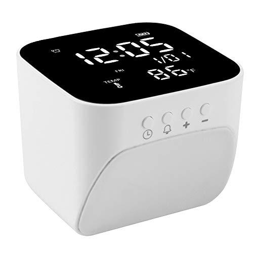 Fdit Calendario perpetuo Reloj Pantalla de Carga USB Sensor de Temperatura de Alta precisión LED de Alta definición Adecuado para el hogar y la Oficina
