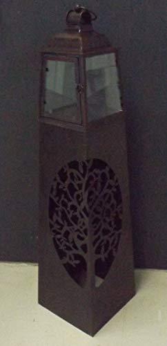 GILDE Laternensäule 68117 Lebensbaum Metall H 102 cm 26x26 cm Deko Laternen-Säule Deko-Laterne Jahreszeit-lich dekorierbar Lebens-Baum