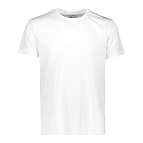 CMP Short-Sleeved Piquet T-Shirt Homme, White, 56