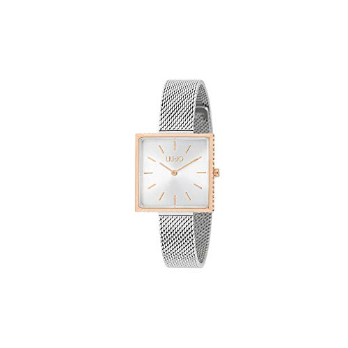 Orologio Donna Glamour Square Bianco Silver Liu Jo Luxury