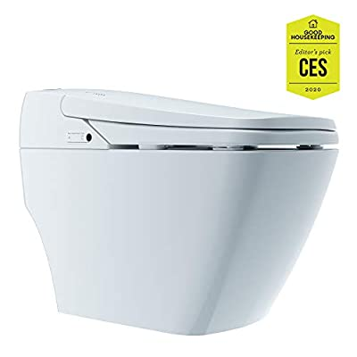 Prodigy Advanced Smart Toilet with Auto Open Lid, Dual Smart Flush, Tankless Design, and Luxury Bidet Features