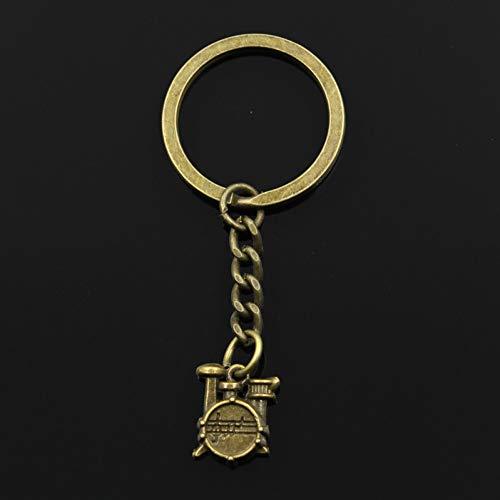YCEOT mode sleutelhanger 16X14X4mm trommel set stopwatch hanger DIY mannen sieraden auto sleutelhanger ringhouder souvenir voor geschenk bronskleurig