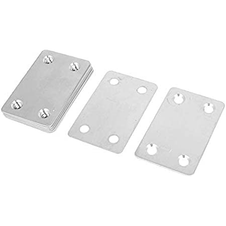 10 piezas de placa de uni/ón plana galvanizada 3.94 x 1.57x 0.08 100 x 40 x 2mm
