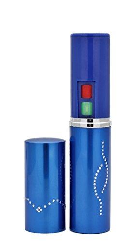 Foxfend Spark Lipstick Stun Gun Women Self Defense Bright Led Flashlight - Rechargeable Battery (Blue)