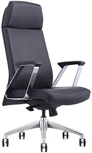 LTHDD Silla de Ordenador de Oficina ergonómica, 360 Rotación cómoda Silla de Oficina, Azul, Negro, Color Nombre: Azul (Color : Black)