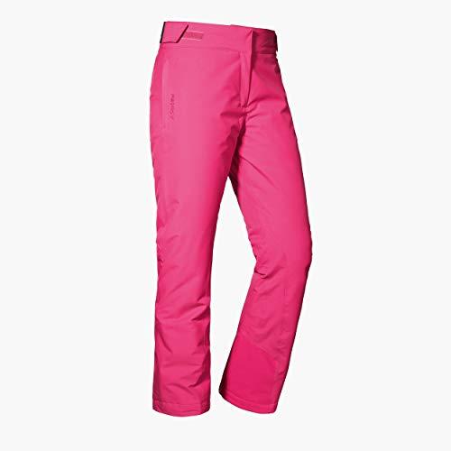 Schöffel Ski Pants Pinzgau1, wind- und wasserdichte Schneehose mit 2-Wege-Stretch, atmungsaktive und bequeme Damen Hose mit Schneefang Damen, pink yarrow, 44