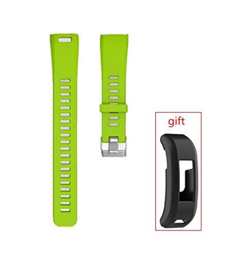 WEINISITE Bracelets pour Garmin Vivosmart HR,Couvercle de Protection pour HR,Souple Silicone Remplacement Bracelets pour Garmin Vivosmart HR Trackers d'activité (Verte)
