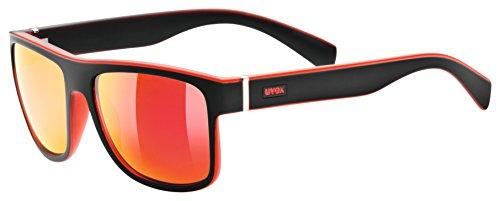 uvex Unisex– Erwachsene, lgl 21 Sonnenbrille, black-red mat, one size
