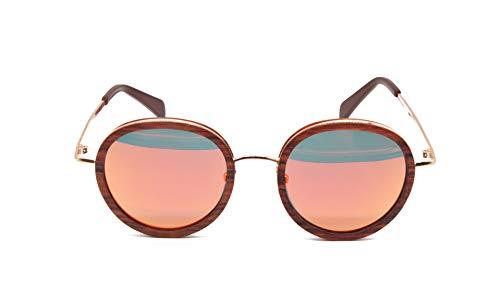 Wood Kiwi: Gafas de sol de madera polarizadas UV400 unisex Happy Hornet