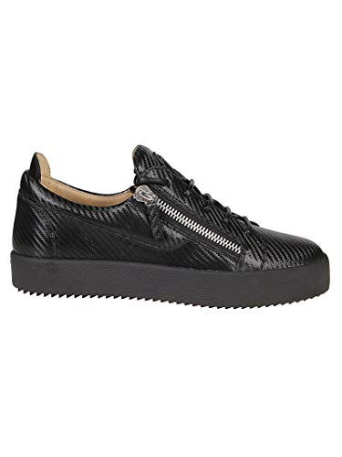 Giuseppe Zanotti Luxury Fashion Design Herren RU70000172 Schwarz Leder Sneakers | Herbst Winter 19