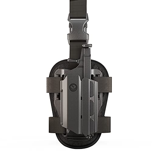 Orpaz Light Bearing Holster Compatible with Springfield XD Holster with Light/Laser/Sight/Optics (Medium Pistol Lights, Drop-Leg Attachment)