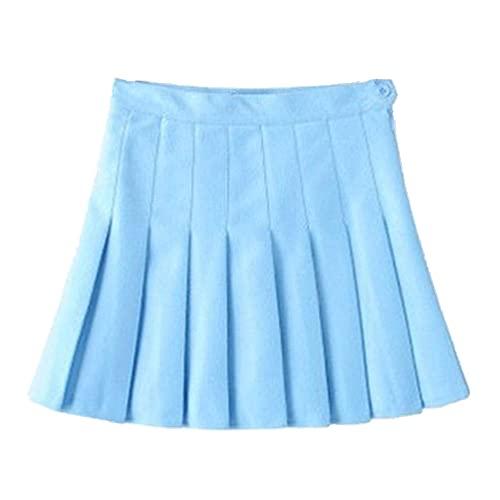 N\P Falda plisada de cintura alta de las mujeres Primavera Otoño Casual A-line Faldas