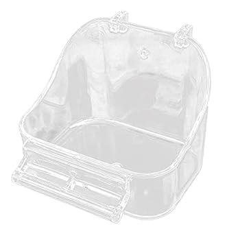 Frotox Boîte de Bain pour Oiseaux Accessoire de Cage de Bain pour perroquets pour Petits Oiseaux Perruche canari Perruche inséparable Bain d'oiseau Bleu ou Transparent pour Cage à l'intérieur