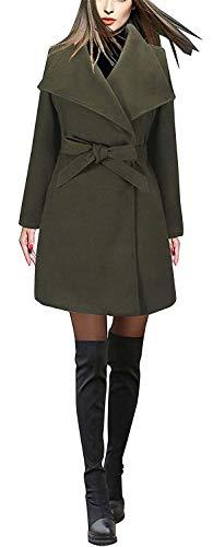 Nvfshreu damesmantel lente, herfst, parka, elegante lange trenchcoat normale lak, comfortabele maten, modieus, vintage, casual, lange mouwen, met riem coat outdoorwear