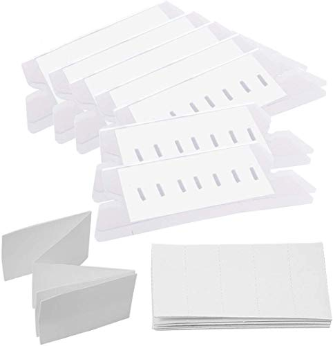 File Folder Tabs, 245 Set Plastic Hanging File Folder Labels Tabs with Inserts