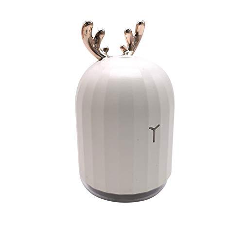 Bubbry USB-luchtbevochtiger met nachtlampje, mini, draagbaar, schattig hert, leuk konijn motief