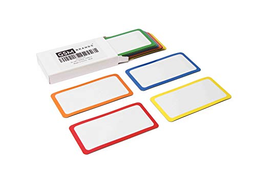 Dry Erase Magnetic Labels - Set of 25-4x2 Inches - Classroom Whiteboard Name Plate Tag Magnets