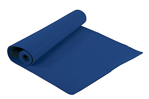 Valeo Blue Lightweight Yoga And Pilates Mat 24Inches Wide By 68Inches Long Designed To Be Durable Cushioned And Easy To Clean VA4492