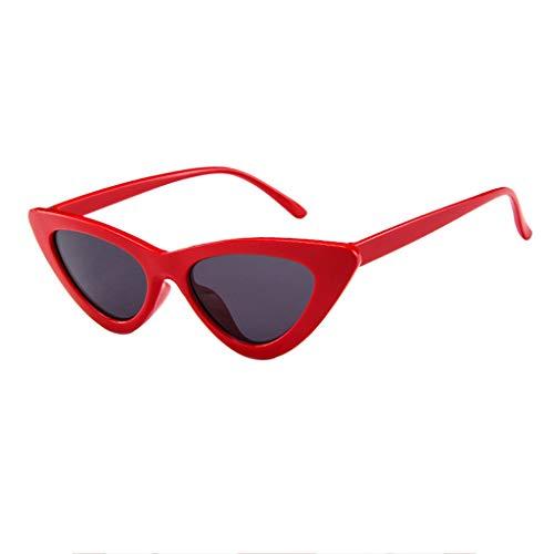 WHSHINE Damen Wunderschöne Stylische Dreieckige Gläser Retro Katzenaugen Sonnenbrille Frauen Retro Vintage kleine Rahmen Sommer Strand Sonnenbrille