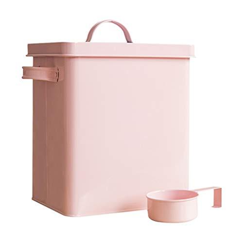 Buy Discount Jlxl Metal Pet Storage Bucket, Seal Dog Dry Feed Storage Bin Cat Kitchen Grains Conta...