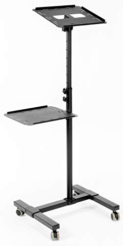 VIVO Mobile Rolling Projector Stand, Height Adjustable Projector and Laptop Trolley Presentation Cart, Black, CART-V04C New Jersey