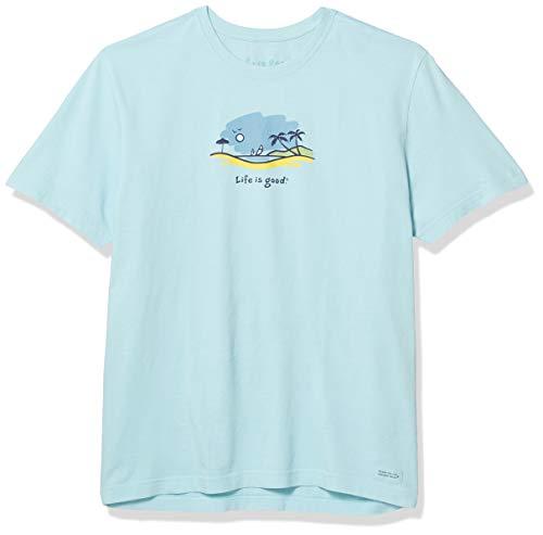 Life Is Good Camiseta Unisex de la Vendimia Crusher de Windsurf Vista Vintage Crusher T-Shirt Windsurf Vista, Unisex Hombre, 62610, Azul Playa, S