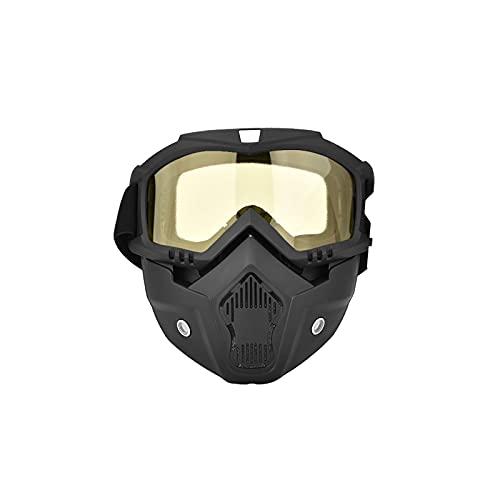 Wzdszuilhxj Gafas Ski, Gafas de esquí, Invierno Snow Sports Ski Snowboard Motorcycle Face Mascarilla Escudo Gafas Gafas Gafas de Color Amarillo