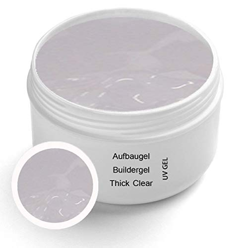 UV Thick Clear Aufbaugel Premium 30 ml – Builder Gel Klar Nagelgel Gelnägel Clear Nagelmodellage