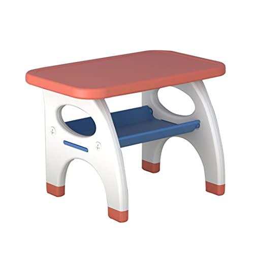 Conjunto De Mesa Y Sillas Para Niños, Carácter De Limpieza Multifuncional. Conjunto De Muebles De Juego De Niños Con Caja De Almacenamiento, Ideal Para Artes, Art(Size:1 table,Color:rojo)