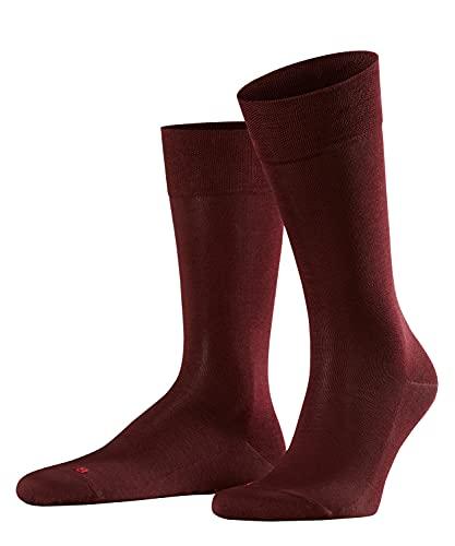 FALKE Herren Sensitive Malaga M SO Socken, Blickdicht, Rot (Barolo 8596), 43-46